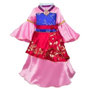 NEW Disney Store MULAN Girls Costume S 5/6 Dress